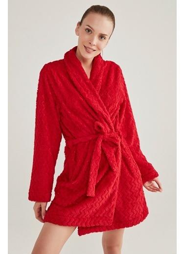 Penti Kadın Soft Red  Sabahlık PNSOAEC620SK Renkli